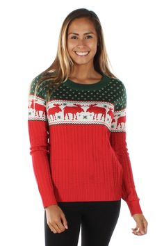 Women's The Night Before Moose Sweater | Tipsy Elves