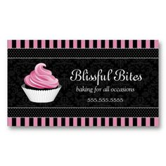 Cute cupcake baker business card template business card templates elegant cupcake bakery business cards cheaphphosting Image collections