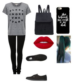 """""""Untitled #897"""" by iloveyou5sos ❤ liked on Polyvore featuring MM6 Maison Margiela, Sundry, Vans and Lime Crime"""