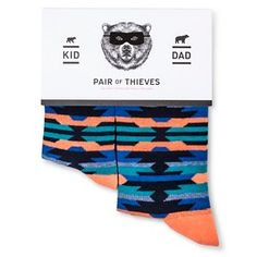 Pair of Thieves Men's Dad/Kid Sock Sets - Red-Turq/Purple Navajo