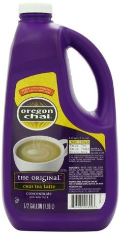 Oregon Chai Original Chai Tea Latte Concentrate, 64 Ounce Jug *** Be sure to check out this awesome product. (This is an affiliate link) Oregon Chai, Thing 1, Pour Over Coffee, Tea Latte, Coffee Type, Cafe Food, Tea Blends, Drinking Tea, Healthy Drinks