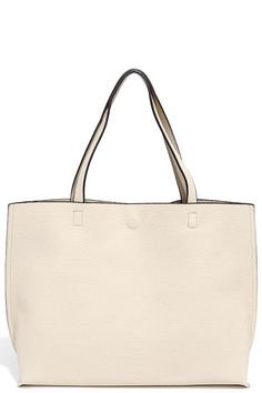 LULUS DO YOUR THING TAUPE AND LIGHT BEIGE REVERSIBLE TOTE