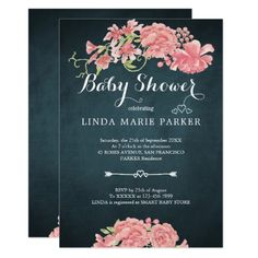 Sweet little lady baby shower invitation floral personalized baby navy blue pink peonies floral elegant baby shower invitation filmwisefo