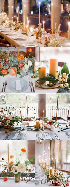 Orange wedding reception idea; Photo: Jose Villa Photography