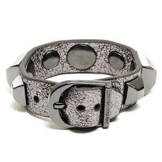 Anthracite + Silver studded Buckle Cuff