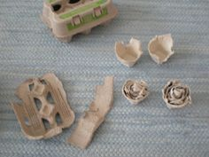 How to make kindling roses from egg carton and stearine.