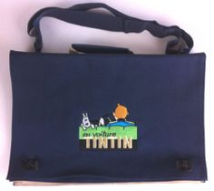 BAG SACOCHE EN VOITURE TINTIN NEW 35X25 CM CAR ATLAS HERGE | eBay