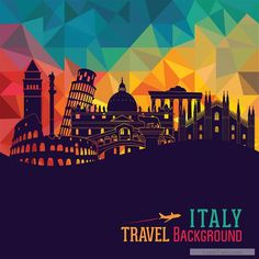 Free Italy travel background art vector 04  vector download