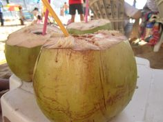Day 3 - Sipping Fresh Coconut on Acapulco beach #SunSandSea