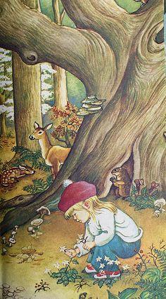books, prayer, elois wilkin, elois wilken, eliose wilkins, wilkin art, red hats, small children, children book