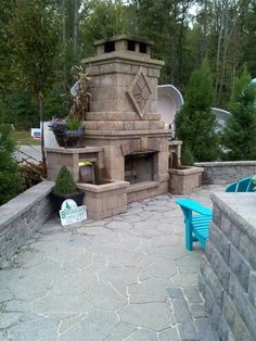 combination outdoor fireplace and water fountain | Outdoor Living ...