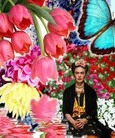 Frida khalo. Frida Kahlo flores de verão borboletas da estação