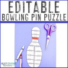 EDITABLE Bowling Pin Puzzle | Game or Supplement for a Bowling Pin Field Trip | 1st, 2nd, 3rd, 4th, 5th, 6th, 7th, 8th grade, Activities, Fun Stuff, Games, Homeschool, Math