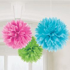 Fluffy Ball Decorations - easy and inexpensive way to dress-up any event
