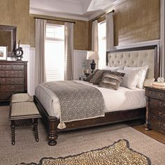 Fabric Tufted Panel Bed - BRM 1790