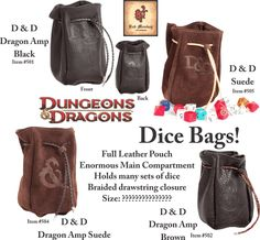 Red Monkey Dungeons & Dragons Dice Bags