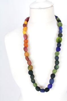 felted necklace designer fashion jewellery by KateRamseyFelt, $40.96