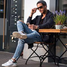 #tshirt #jeans #blazer #adidas #sunglasses #hat #grey #blue #streetstyle #style #menstyle #manstyle #menswear #fashion #mensfashion