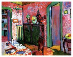 Interior (My dining room) - Wassily Kandinsky, 1909