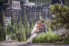 Wedding photo from the Fairmont Banff, Canada