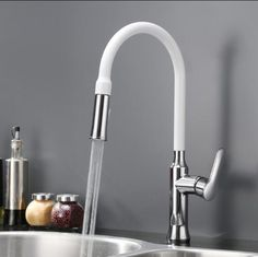 New Style Top Quality Brass Spring Pull Out Kitchen Sink Faucet Single Handle Water Tap Hot & Cold Water Kitchen Faucet