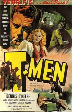 For Anthony Mann's tough-guy masterpiece T-MEN.