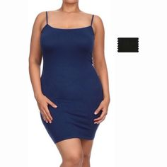 Seamless Dress  BLACK ONLY   BASIC SEAMLESS spaghetti strap dress solid all throughout. Stretchy material. Finished hem. Wear it as a dress or pair it with leggings for a chic finished look or can be worn under sheer dresses Plussize fits 1x-3x Boutique Dresses