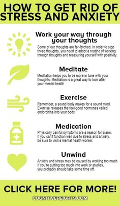 There are a lot of factors that lead to anxiety and stress. Think: work, school, relationships and family. Find out how to get rid of anxiety and stress. Anxiety Causes, Anxiety Tips, Anxiety Help, Anxiety Relief, Stress And Anxiety, Stress Relief, Anxiety Facts, Causes Of Stress, How To Manage Anxiety