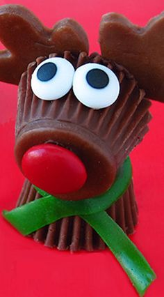 Reese's Cup Rudolph the Red Nose Reindeer Treats
