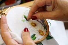 Embroidery, bordado, flowers, flores, bastidor