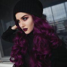 Lila wellig synthetische Perücke SNY089 #donalovehair #lila #haar #haarfarbe #haircolor #wellighaar #Perücke #wig #frisur #fashion