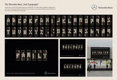 Mercedes - Seat Typography outdoor