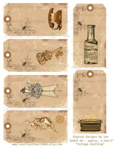 Vintage Anything Tags    Digital Download  by CountryAtHeart2008, $4.99