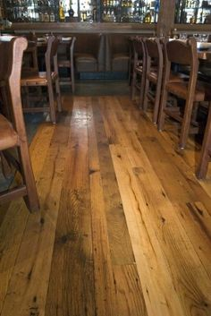 barn wood flooring is pretty.
