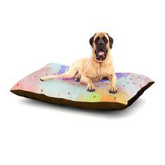 "Iris Lehnhardt ""Summer Pastels"" Multicolor Painting Dog Bed"