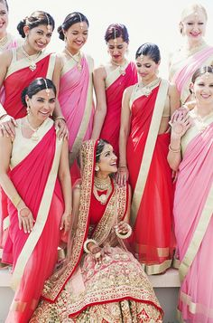 Bridal Party Style | Our Labor Of Love https://www.theknot.com/marketplace/our-labor-of-love-atlanta-ga-188064 #IndianWeddings