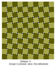 Optische Täuschung: verzerrte Quadrate