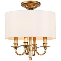 "Crystorama Manning 16"" Wide Silver Leaf Ceiling Light - #7T318 