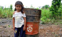 "Adorable girl standing in polluted mess..link to article where Chevron being forced to practice what I teach my kids, ""Clean up after yourself.""  Now everybody stop driving so damn much."