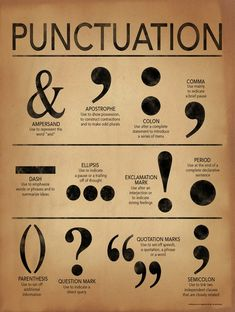 Punctuation Grammar and Writing Poster #grammar #English #TEFL #TESOL #ESL #education #ALO7English