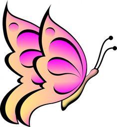Big Pink Butterfly Art