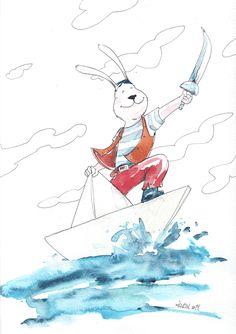 Illustration for children's books (watercolor) on Behance