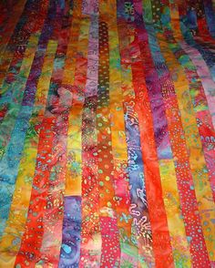 jelly roll rainbow quilt