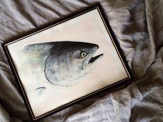 Amazing salmon painting