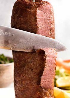Carving Doner Kebab Meat Kebab Recipes, Lamb Recipes, Cooking Recipes, Chicken Doner, Doner Kebabs, Kebab Meat, Recipe Tin, Gyro Recipe, Homemade Recipe