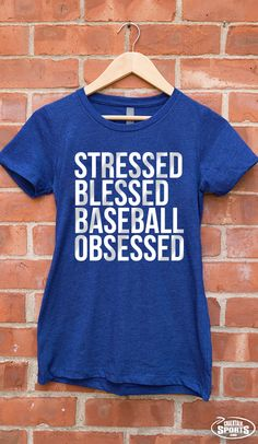 Stressed, blessed, baseball obsessed! It's your #baseballliffe. Celebrate the baseball lifestyle with our new #sportlife collection!