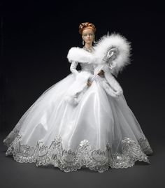 Barbie in White Masquerade Ensemble Barbie Bridal, Barbie Wedding Dress, Wedding Doll, Barbie Gowns, Barbie Dress, Barbie Clothes, Barbie Outfits, Doll Dresses, Wedding Gowns