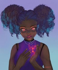 My take on s challenge piece. Ive really loved her work since I first spotted her on Deviant Art. I spent most of my efforts on the girls face and expression. Black Girl Art, Black Women Art, Drawing Challenge, Art Challenge, Black Art Pictures, Black Artwork, Witch Art, Afro Art, Digital Art Girl