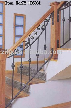 New stairs handrail design banisters ideas Stairs Balusters, Wrought Iron Stair Railing, Wrought Iron Decor, Metal Stairs, Modern Stairs, Banisters, Banister Ideas, Deck Stair Lights, Banister Remodel