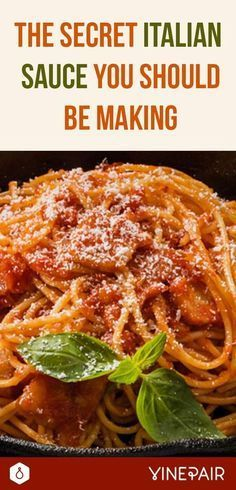 The Secret Italian Sauce You Should Be Making is part of food-recipes - Sugo all'matriciana is a staple of Roman cooking that originated in a historic hilltop town called Amatrice Learn to cook this delicious dish Italian Spaghetti Sauce, Homemade Spaghetti Sauce, Spaghetti Recipes, Spaghetti And Meatballs, Pasta Sauce Recipes, Beef Recipes, Cooking Recipes, Cooking Eggs, Budget Cooking